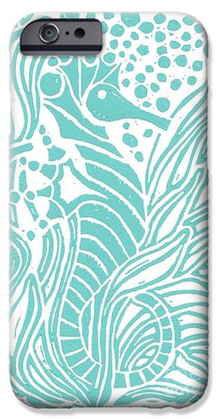 Aqua Seahorse IPhone 6s Case by Stephanie Troxell