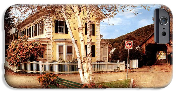 Architecture - Woodstock Vt - Where I Live IPhone Case by Mike Savad