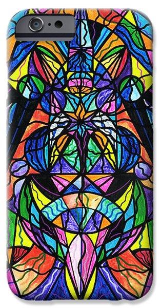 Arcturian Awakening Grid IPhone Case by Teal Eye  Print Store
