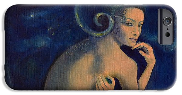 Aries From Zodiac Series IPhone Case by Dorina  Costras
