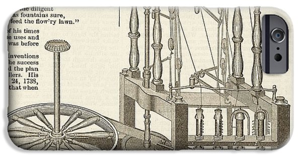 Arkwright's Water Frame IPhone Case by Art And Picture Collection/new York Public Library
