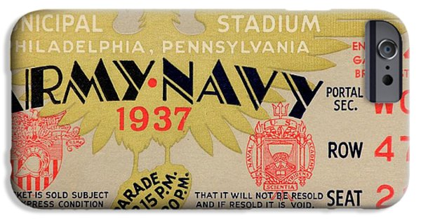 Army Navy 1937 IPhone Case by Benjamin Yeager