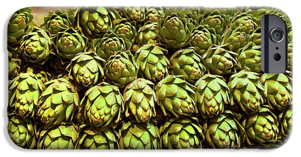 Artichokes At Farm Stand, Route 34 IPhone Case by Panoramic Images