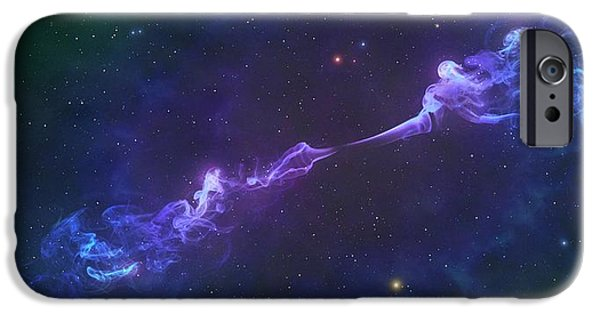 Artwork Of A Herbig-haro Object IPhone Case by Mark Garlick