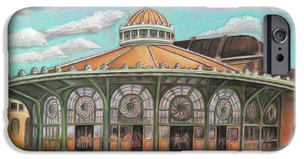 Asbury Park Carousel House IPhone Case by Melinda Saminski
