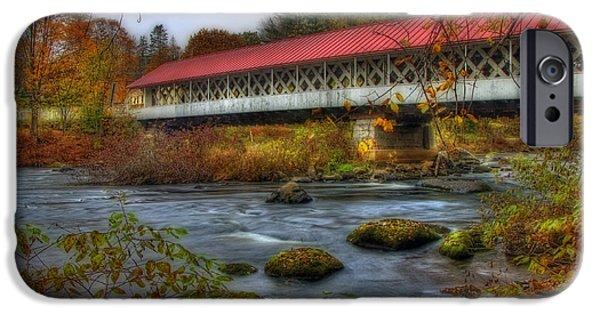 Ashuelot Covered Bridge 2 IPhone Case by Joann Vitali