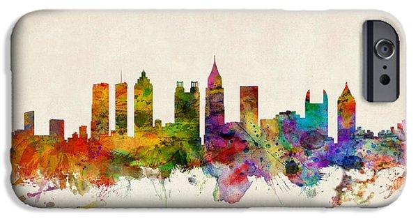 Atlanta Georgia Skyline IPhone Case by Michael Tompsett