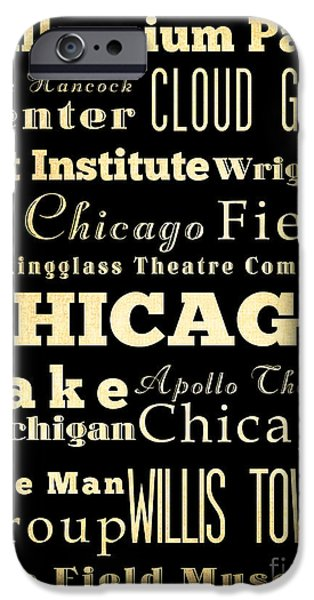 Attractions And Famous Places Of Chicago Illinois IPhone 6s Case by Joy House Studio