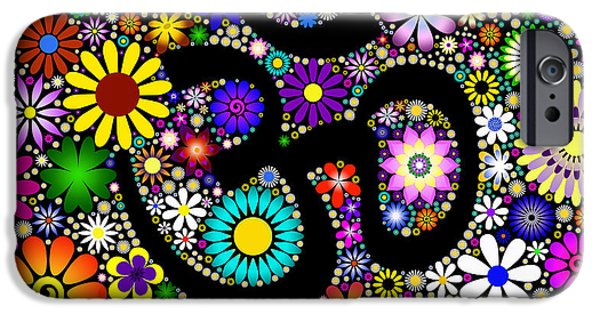 Aum Flowers IPhone Case by Tim Gainey