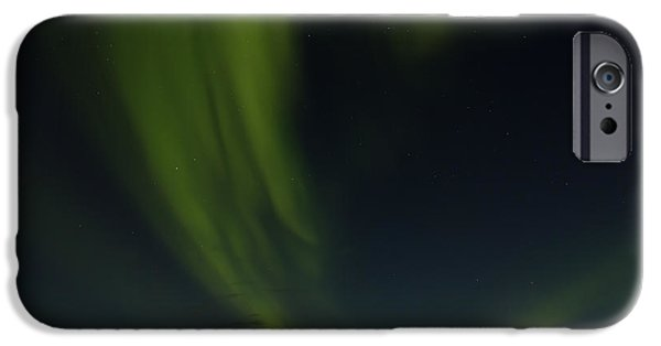 Aurora Borealis Over Iceland IPhone Case by Andres Leon