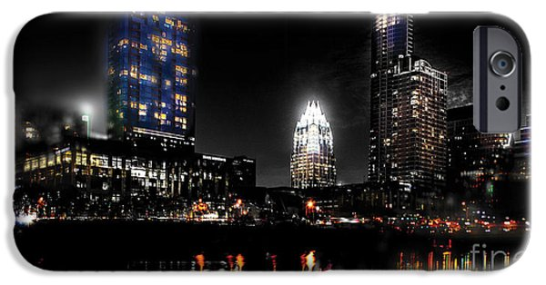 Austin Night Skyline Reflections  IPhone 6s Case by Gary Gibich