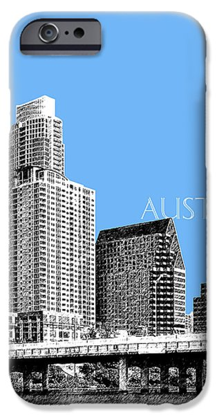 Austin Skyline - Sky Blue IPhone 6s Case by DB Artist