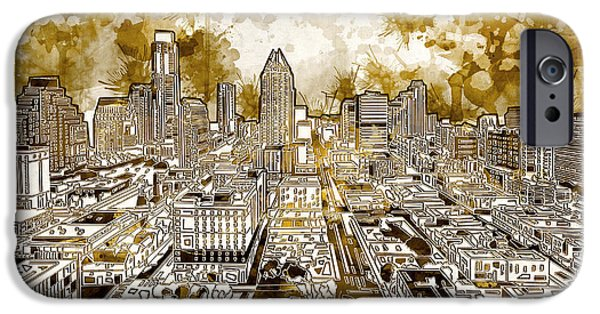Austin Texas Abstract Panorama 6 IPhone 6s Case by Bekim Art