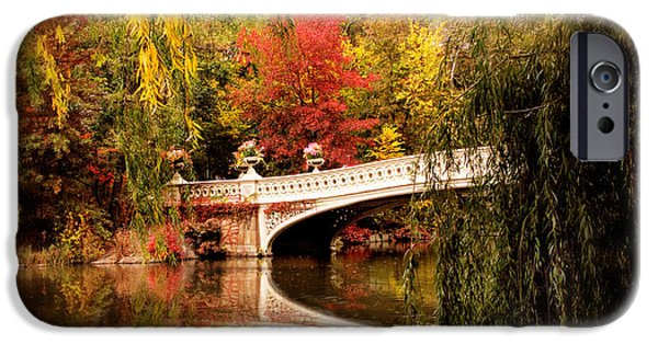 Autumn At Bow Bridge IPhone Case by Jessica Jenney