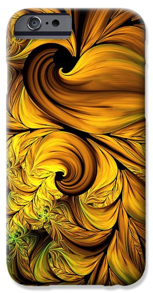 Autumn Returns Abstract IPhone Case by Georgiana Romanovna