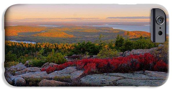 Cadillac Mountain Autumn Sunrise IPhone Case by Stephen  Vecchiotti