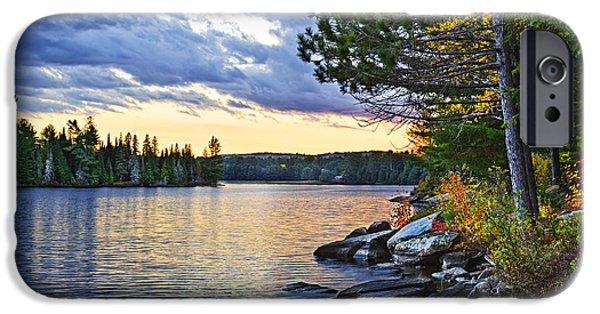 Autumn Sunset At Lake IPhone Case by Elena Elisseeva