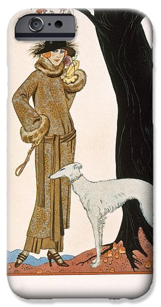 Autumnal Symphony Afternoon Coat And Dress By Worth IPhone Case by Georges Barbier