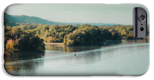Autumn's Knocking On The Door - River Scene IPhone Case by Jai Johnson