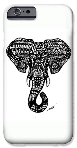 Aztec Elephant Head IPhone 6s Case by Loren Hill