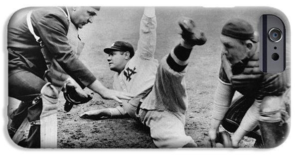 Babe Ruth Slides Home IPhone 6s Case by Underwood Archives