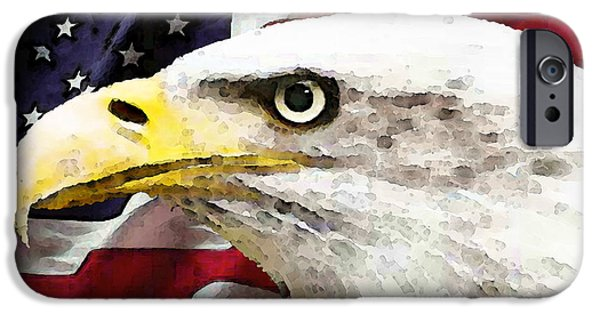Bald Eagle Art - Old Glory - American Flag IPhone Case by Sharon Cummings