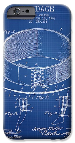 Bandage Patent From 1907 - Blueprint IPhone Case by Aged Pixel