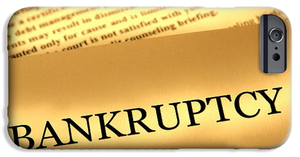 Bankruptcy Notice IPhone Case by Olivier Le Queinec