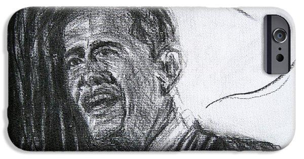 Barack Obama 1 IPhone Case by Michael Morgan