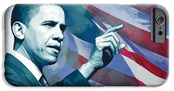 Barack Obama Artwork 2 IPhone Case by Sheraz A