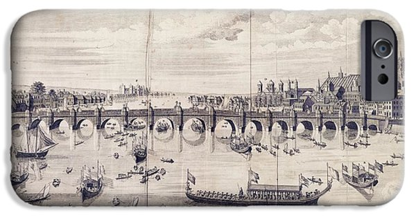 Barges At Westminster Bridge IPhone 6s Case by Library Of Congress