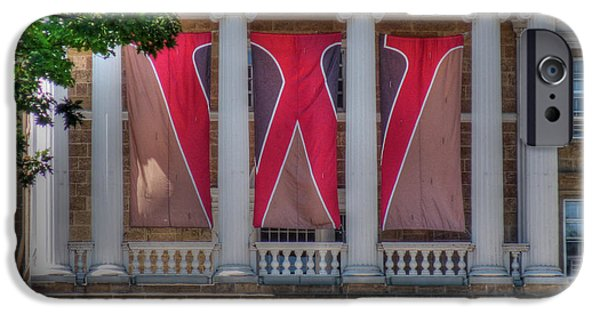 Bascom Hall-on Wisconsin IPhone Case by David Bearden