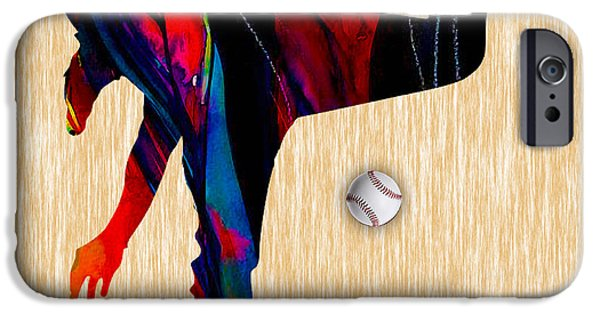 Baseball Pitcher IPhone Case by Marvin Blaine