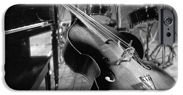Bass Fiddle IPhone Case by Tony Cordoza