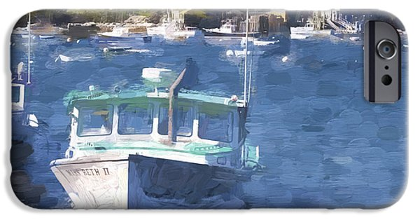 Bass Harbor Maine Painterly Effect IPhone Case by Carol Leigh