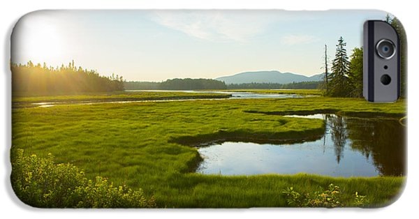 Bass Harbor Marsh At Dusk IPhone Case by Diane Diederich