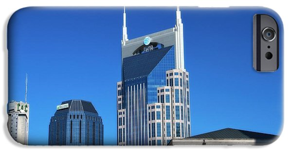 Batman Building And Nashville Skyline IPhone Case by Dan Sproul