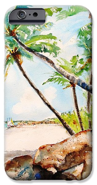 Bavaro Tropical Sandy Beach IPhone Case by Carlin Blahnik