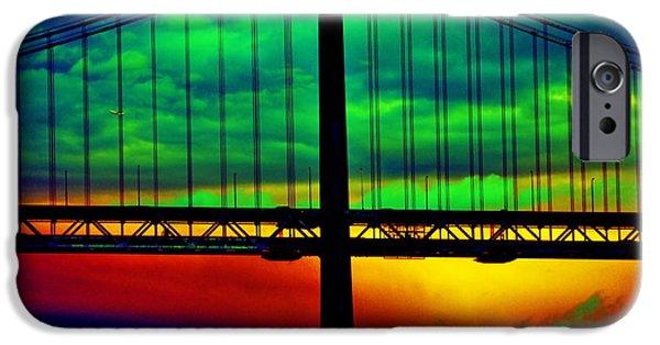 Bay Bridge Abstract IPhone Case by Aidan Moran