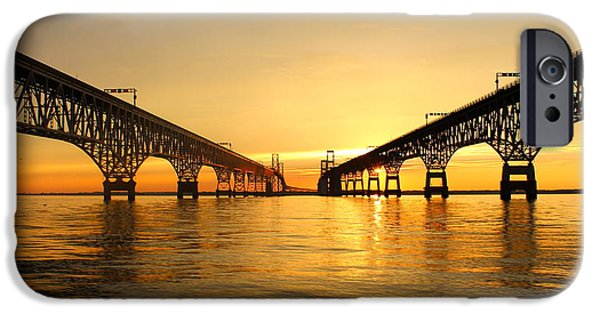 Bay Bridge Sunset IPhone Case by Jennifer Casey