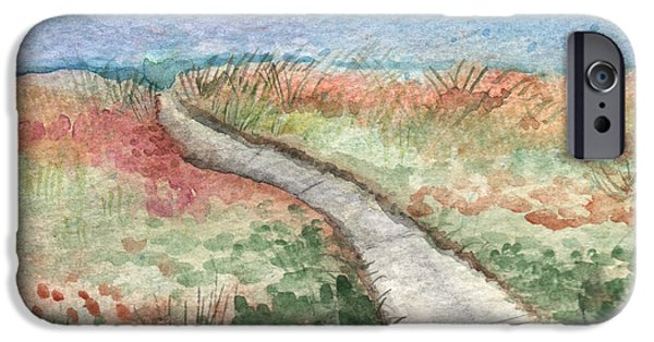 Beach Path IPhone Case by Linda Woods