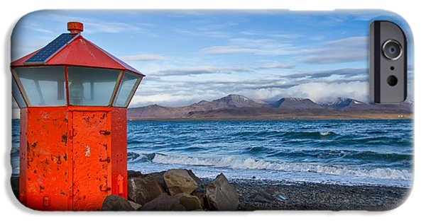 Beacon At Hvaleyrarviti In Iceland IPhone Case by Andres Leon