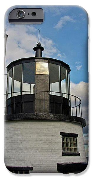 Beacon, Owl's Head Lighthouse, Owl's IPhone Case by Michel Hersen