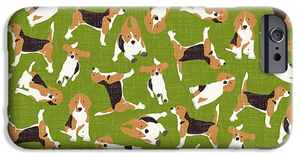 Beagle Scatter Green IPhone 6s Case by Sharon Turner
