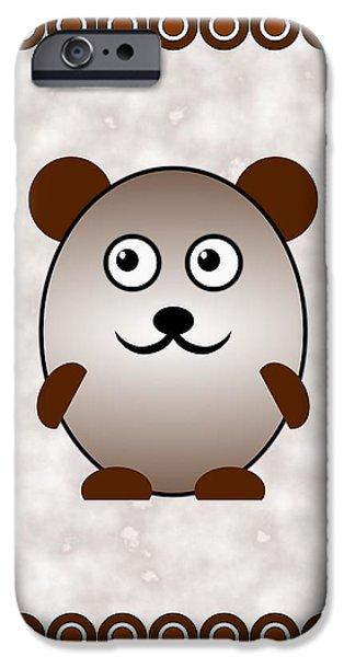 Bear - Animals - Art For Kids IPhone Case by Anastasiya Malakhova