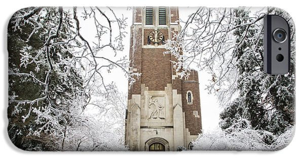 Beaumont Tower Ice Storm  IPhone 6s Case by John McGraw