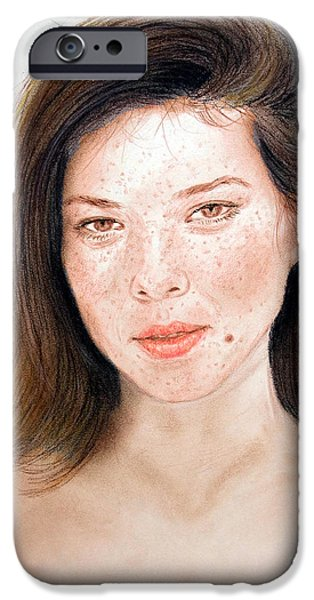 Beautiful Actress Jeananne Goossen IPhone Case by Jim Fitzpatrick
