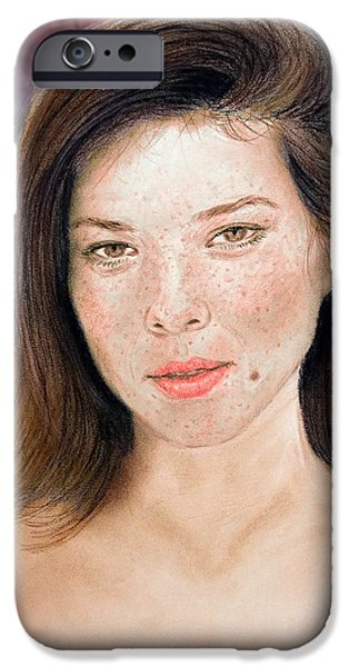 Beautiful Actress Jeananne Goossen Updated Version IPhone Case by Jim Fitzpatrick