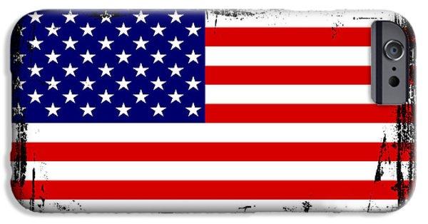 Beautiful United States Flag IPhone 6s Case by Pamela Johnson