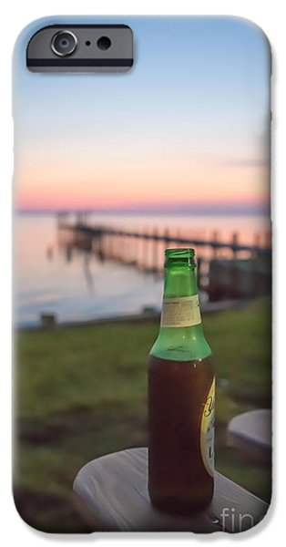 Beer In The Sunset In Obx IPhone Case by Kay Pickens